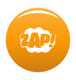 comic boom zap icon orange vector image