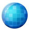 discotheque mirror ball shiny round shape vector image