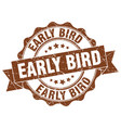 early bird stamp sign seal vector image vector image
