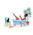 enjoy bath time flat cartoon