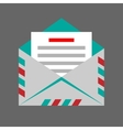 envelope on gray background vector image vector image