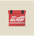 fast delivery box vector image