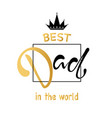 fathers day lettering calligraphic design vector image