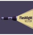 Flashlight icon on night background isolated vector image