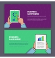 Flat style infographic of advertising campaign vector image