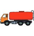gasoline tanker vector image