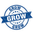 grow round grunge ribbon stamp vector image vector image