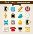 Hand Draw Communication Icon Set vector image vector image