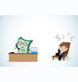 happy businessman and money working vector image