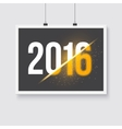 Happy New Year 2016 Poster on Wall 2016 vector image