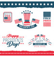 happy presidents day labels vector image vector image
