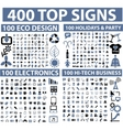 Hundreds of icons vector image