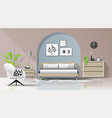 interior background with modern cozy bedroom vector image vector image