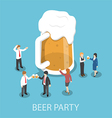 Isometric business people drinking beer vector image vector image