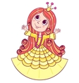 Little cute princess yellow vector image vector image