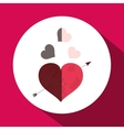Love with heart design vector image vector image