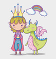 magic world little princess hand drawing cartoon vector image