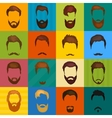 Mans hair set of beards and mustaches