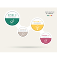 Modern circle infographic for business project vector image