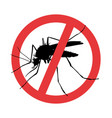 mosquito symbol parasite warning sign vector image