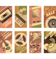 musical retro cards vector image vector image