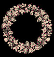 pastel pink laurel wreath decorative frame vector image vector image