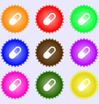 pill icon sign Big set of colorful diverse vector image vector image