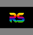 rainbow color colored colorful alphabet letter rs vector image vector image