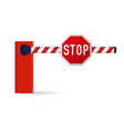 realistic car barrier vector image vector image
