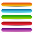 rectangle banners buttons labels in several vector image vector image