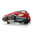red cartoon car vector image