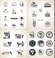 restaurant badges and labels collection vector image vector image