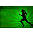 runner silhouette on abstract background vector image vector image