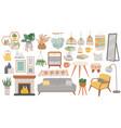 scandinavian furniture cozy home furnishing vector image vector image
