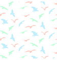 seagull silhouette pattern background vector image