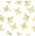seamless pattern in with jasmine vector image vector image