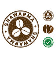 shawarma stamp with distress surface vector image