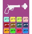 Shot from a revolver icon vector image