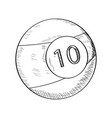 sketch of a billiard ball vector image vector image