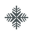 snowflake icon snowflake sign isolated vector image