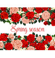 spring season holiday flower poster vector image vector image
