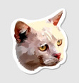 sticker cute cat head vector image vector image