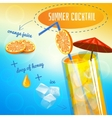 Summer Cocktail Recipe vector image vector image