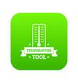 temperature tool icon green vector image vector image