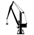 tower crane silhouette object element retro vector image
