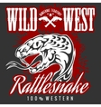 Wild west and rattlesnake - vintage artwork vector image vector image