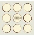 Abstract Coffee Stains vector image