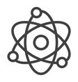 atom line icon education and physics vector image