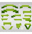 Big Collection of Design Retro Banners Green vector image