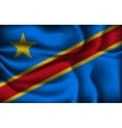 crumpled flag of Congo on a light background vector image